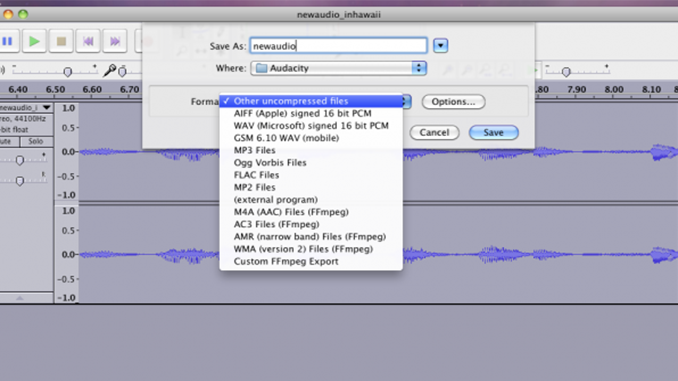 Use Audacity for Audio Effects